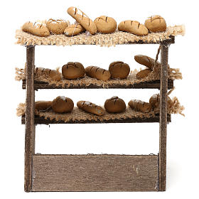 Bench on three levels with bread for Neapolitan Nativity Scene 10 cm s4