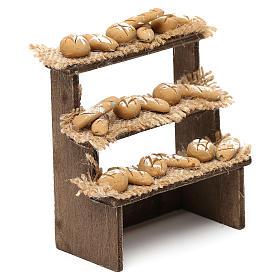 Etal pain avec 3 étagères crèche napolitaine 10 cm s3