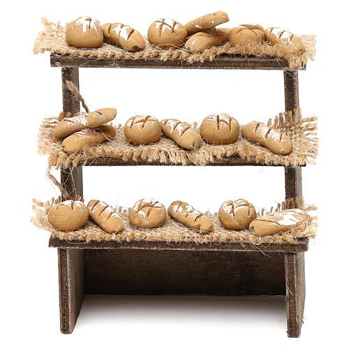 Etal pain avec 3 étagères crèche napolitaine 10 cm 1