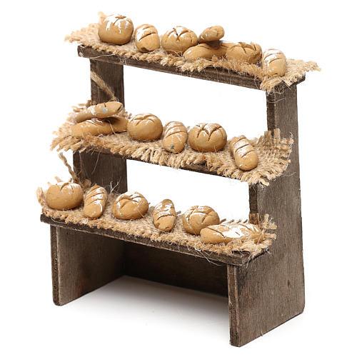 Etal pain avec 3 étagères crèche napolitaine 10 cm 2