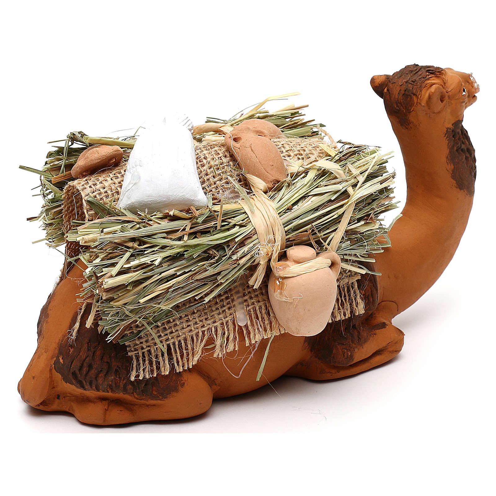 Cammello bardato in ginocchio presepe napoletano 12 cm 4