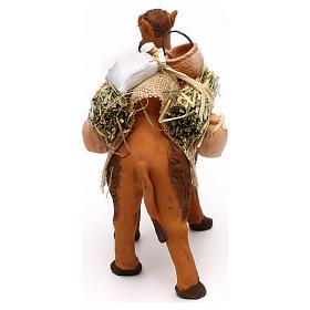 Cammello terracotta con sacchi e brocche presepe napoletano 12 cm s4