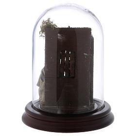 Scena natività campana di vetro presepe napoletano 6 cm s5