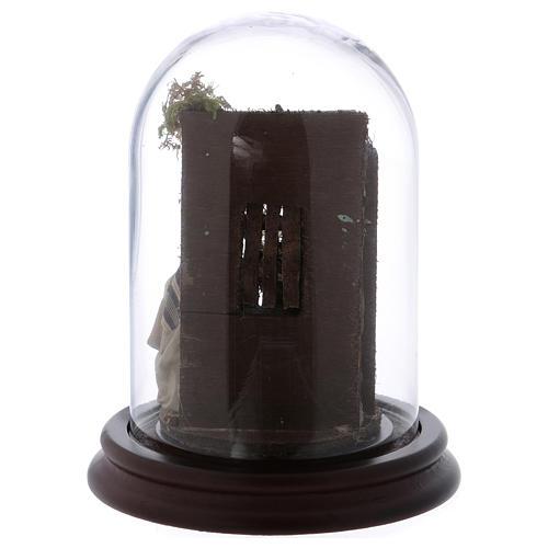 Scena natività campana di vetro presepe napoletano 6 cm 5