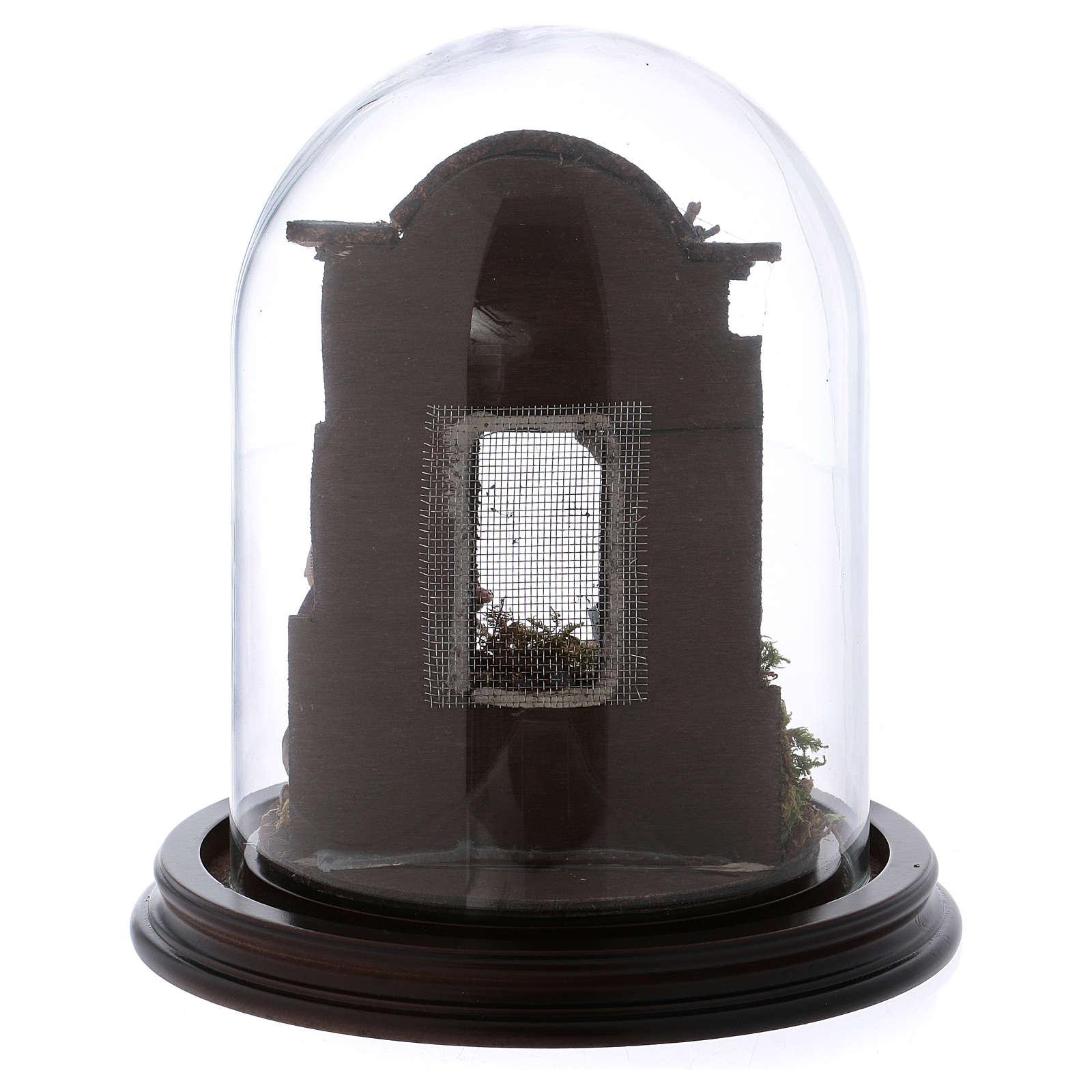 Natività scena in campana di vetro presepe napoletano 8 cm 4