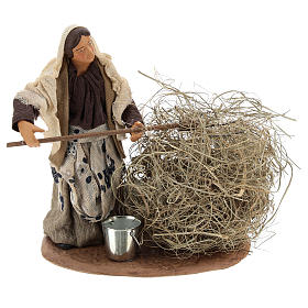 Peasant with straw 13 cm s1