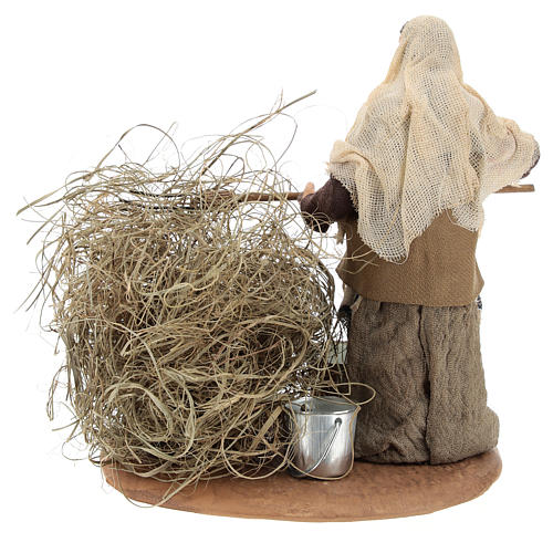 Peasant with straw 13 cm 5