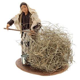 Santon paysanne avec paille 13 cm s3
