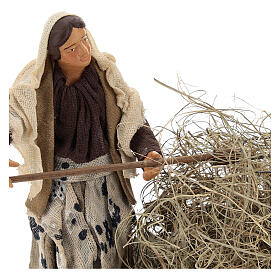 Miniature farmer woman with straw, 13 cm s2