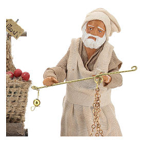 Fruit seller with counter and scale 13 cm s2