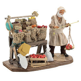Fruit seller with counter and scale 13 cm s4
