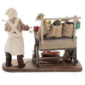 Fruit seller with counter and scale 13 cm s5