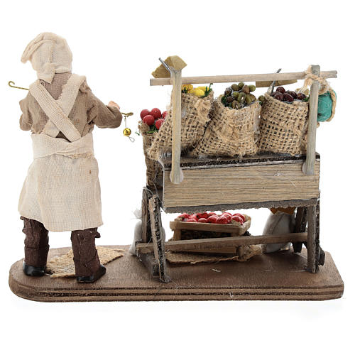 Fruit seller with counter and scale 13 cm 5