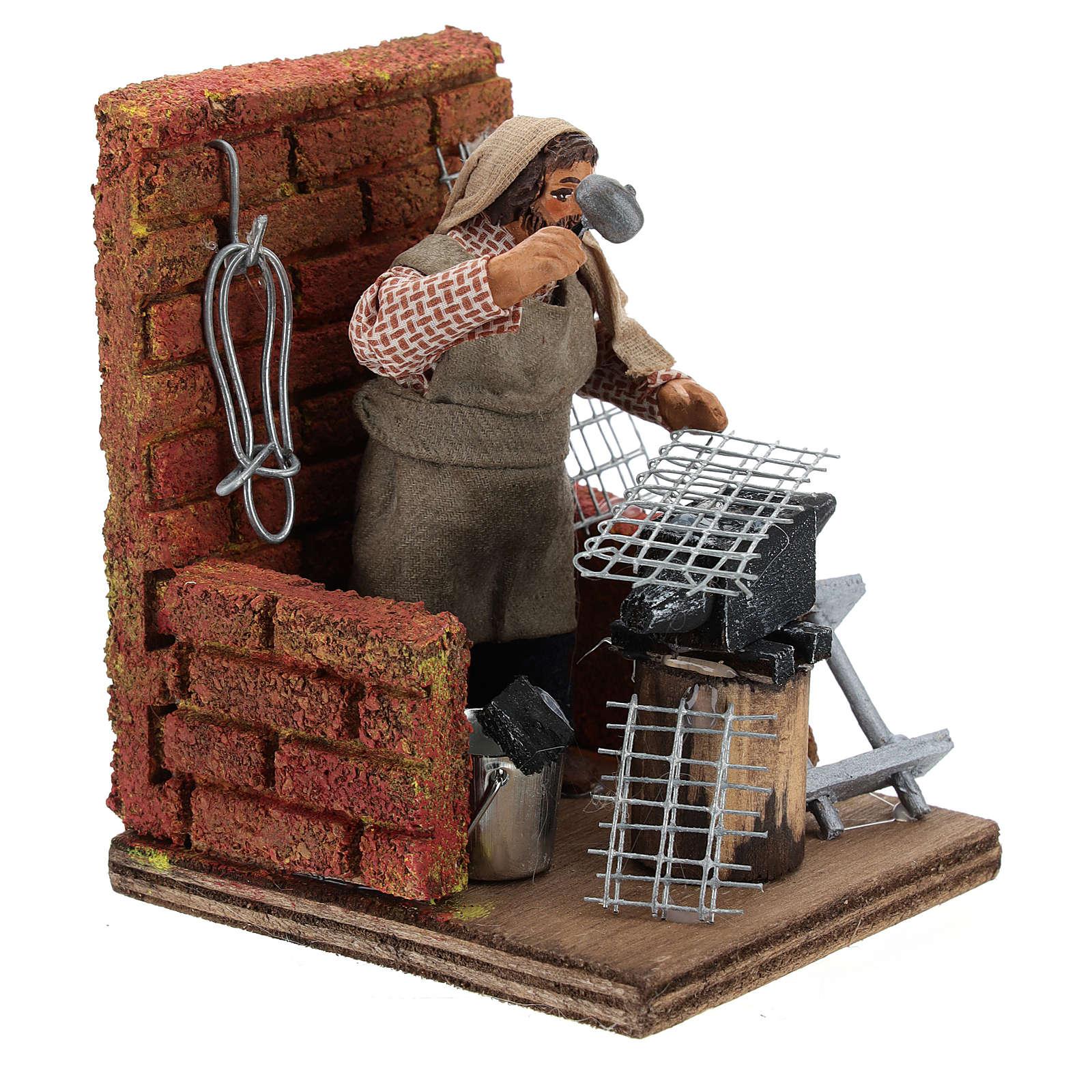 Blacksmith with tools 10 cm 4