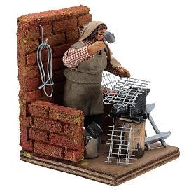 Escena herrero con herramientas 10 cm s4