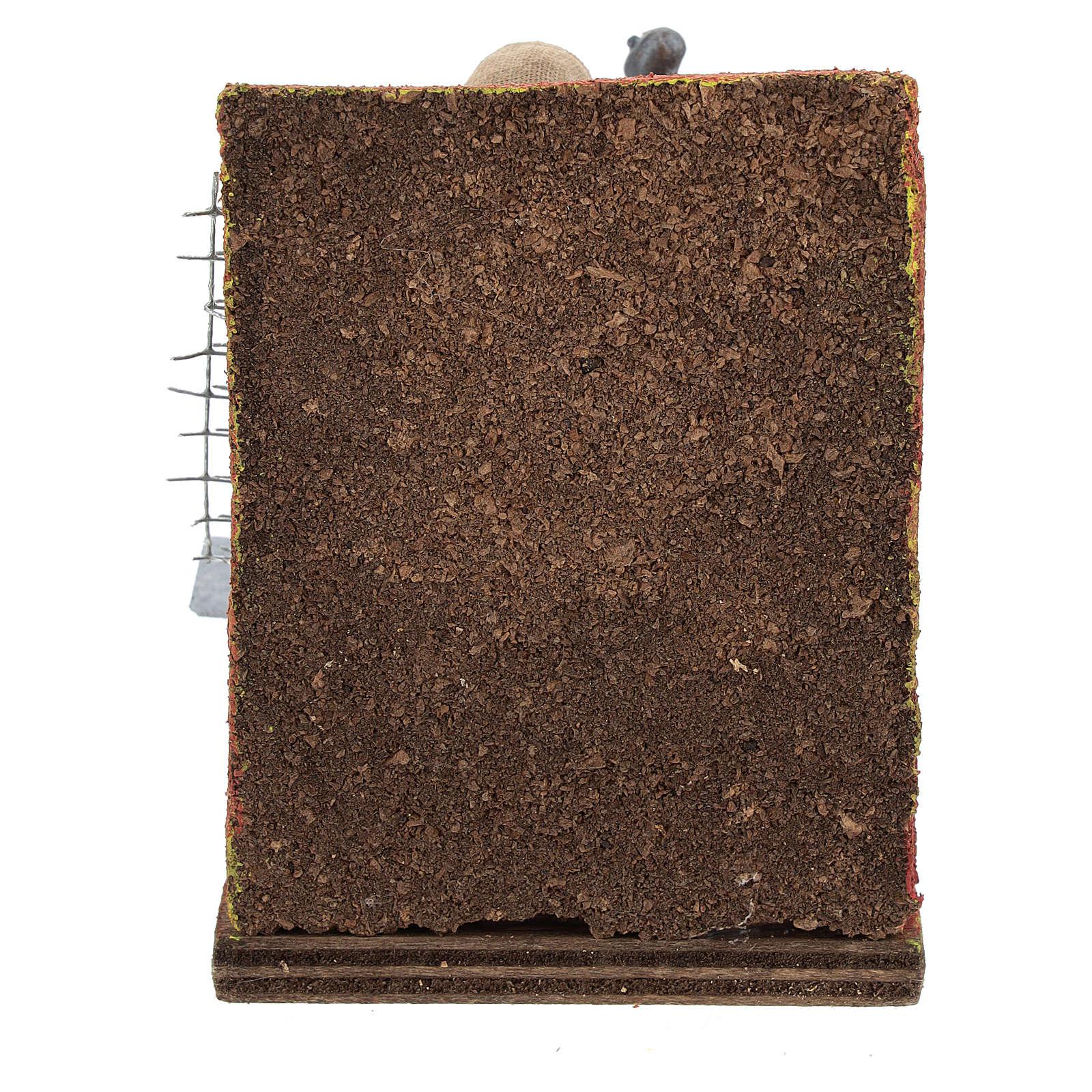 Scenetta fabbro con attrezzi 10 cm 4