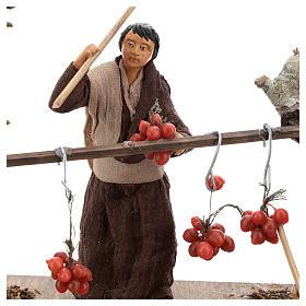 Scène paysans et tomates pendues 13 cm s2