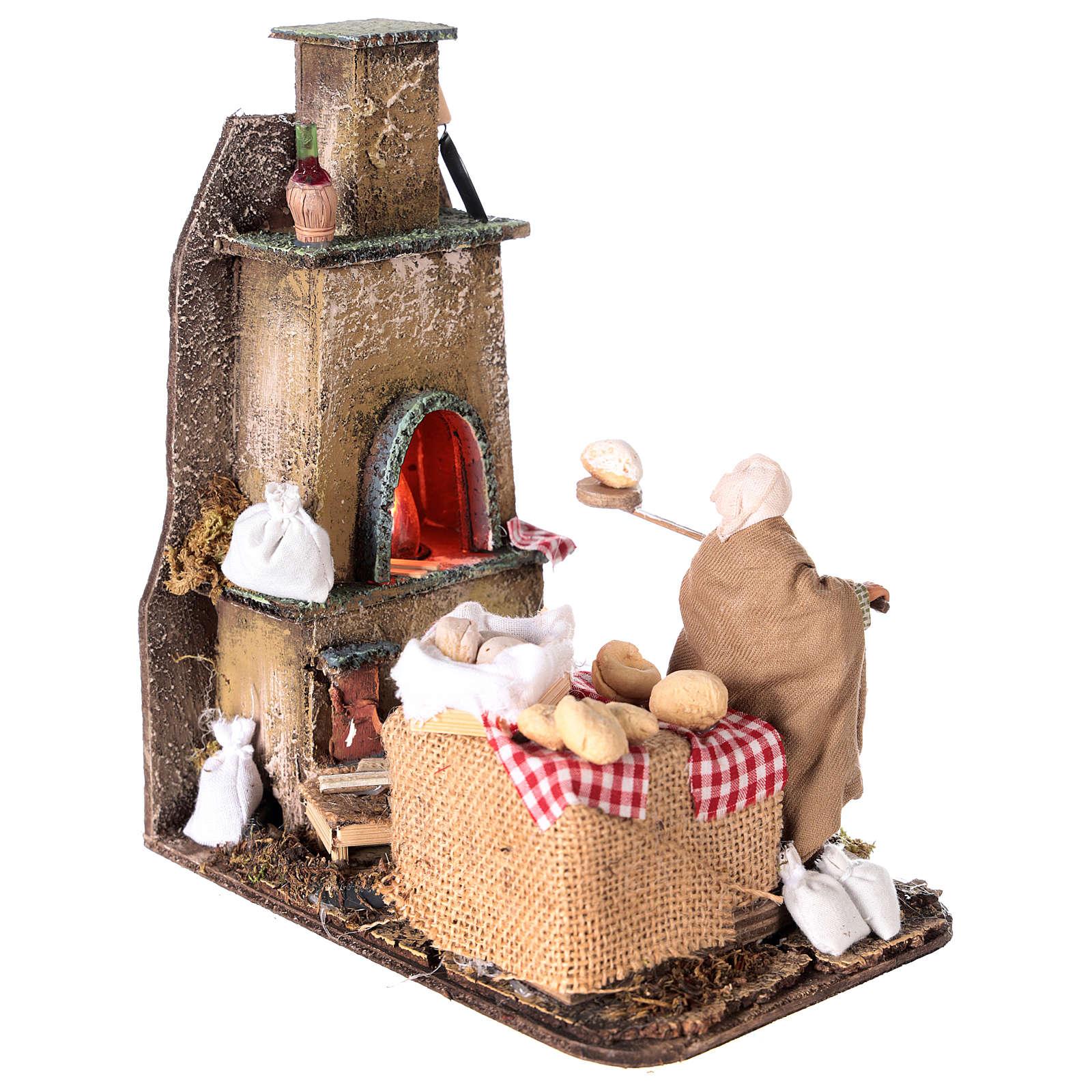 Escena horno con panadero 11 cm 4