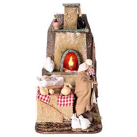 Escena horno con panadero 11 cm s1