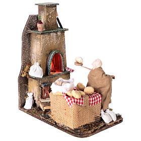 Escena horno con panadero 11 cm s4