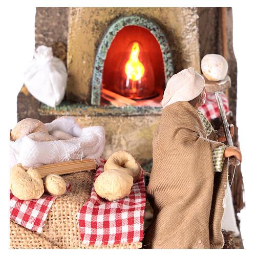Escena horno con panadero 11 cm 2