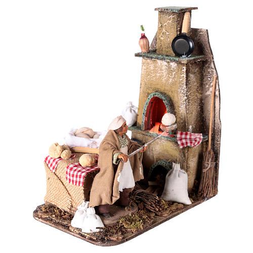 Escena horno con panadero 11 cm 3