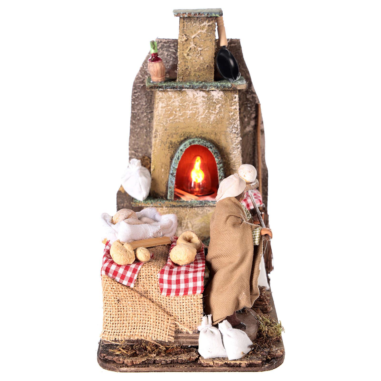 Scena forno con panettiere 11 cm 4