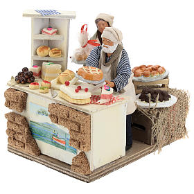 Moving confectioner with dessert counter 13 cm s3