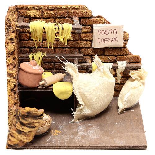 Escena pasta fresca de 10x15x10 para belén Nápoles de 10 cm 1