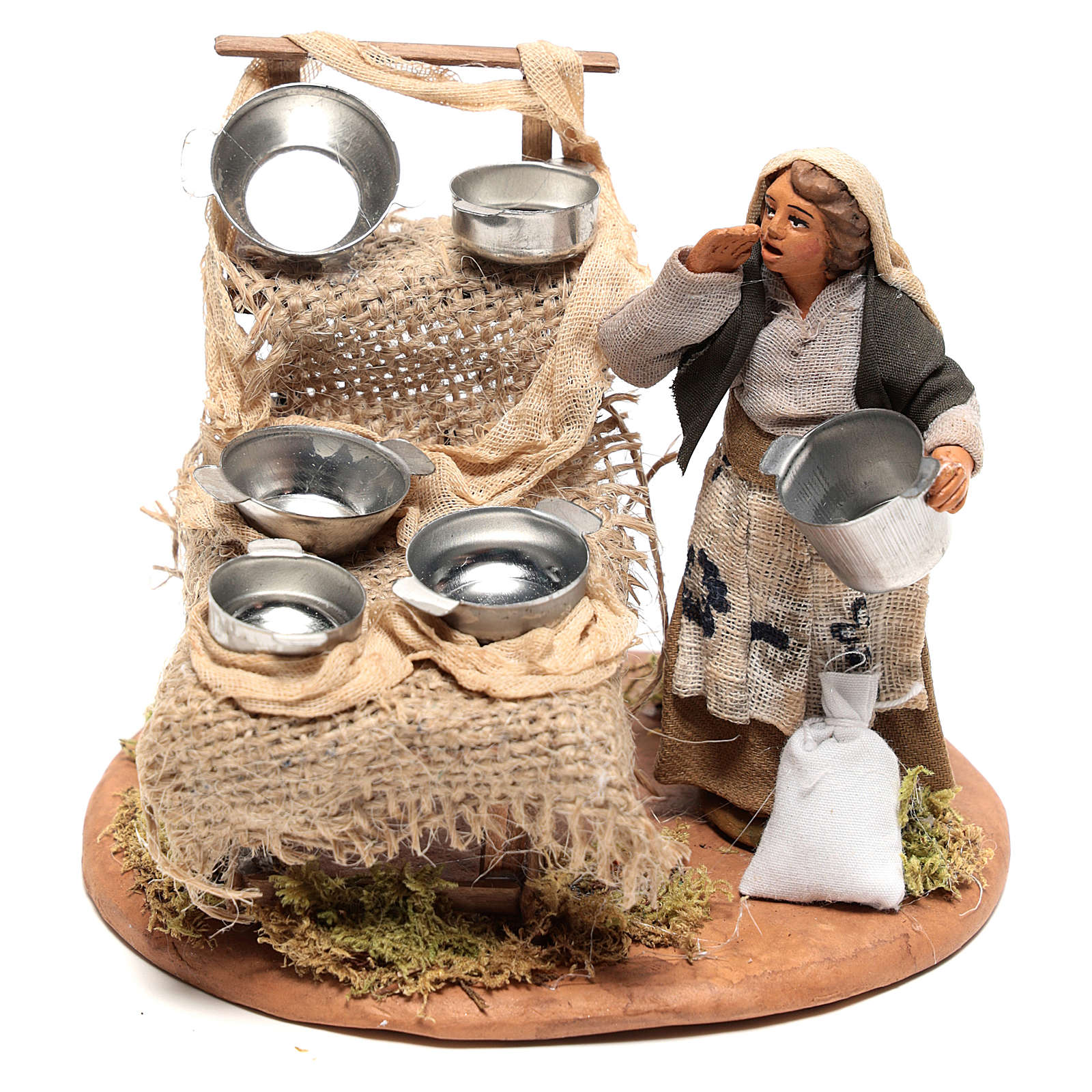 Pot seller 10x10x10 cm for Neapolitan Nativity Scene of 10 cm 4