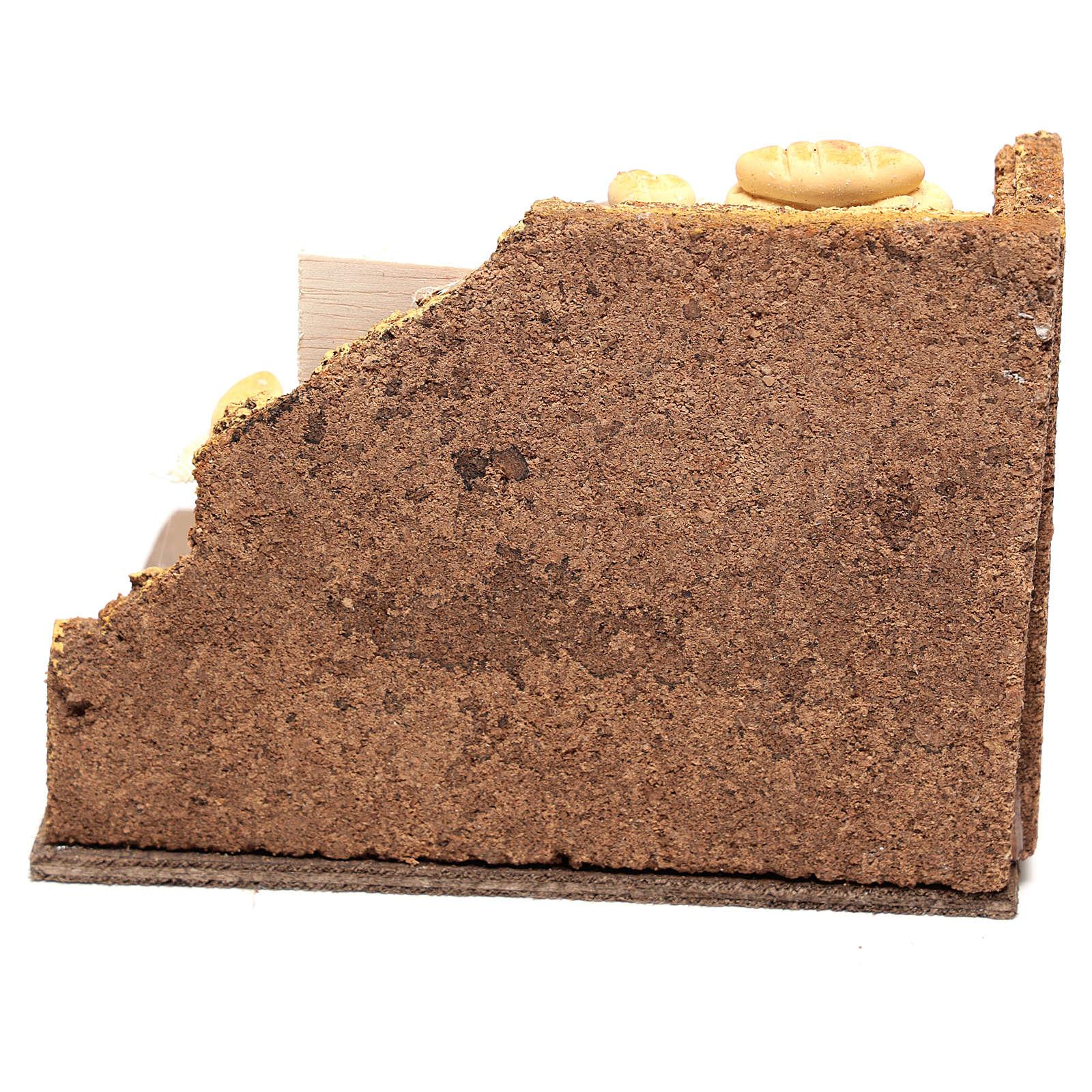 Escena panadero 10x15x10 cm para belén napolitano de 10 cm 4