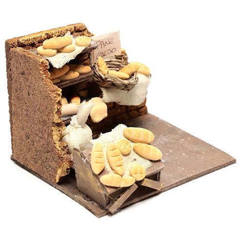 Escena panadero 10x15x10 cm para belén napolitano de 10 cm 3