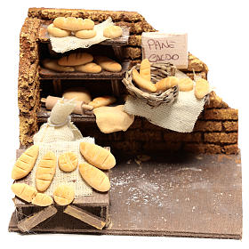 Scène boulanger 10x15x10 cm pour crèche napolitaine 10 cm s1