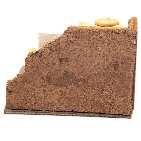 Scène boulanger 10x15x10 cm pour crèche napolitaine 10 cm s4
