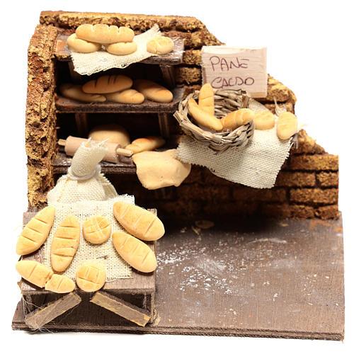 Scène boulanger 10x15x10 cm pour crèche napolitaine 10 cm 1