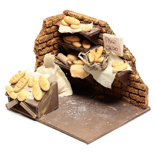 Scène boulanger 10x15x10 cm pour crèche napolitaine 10 cm 2