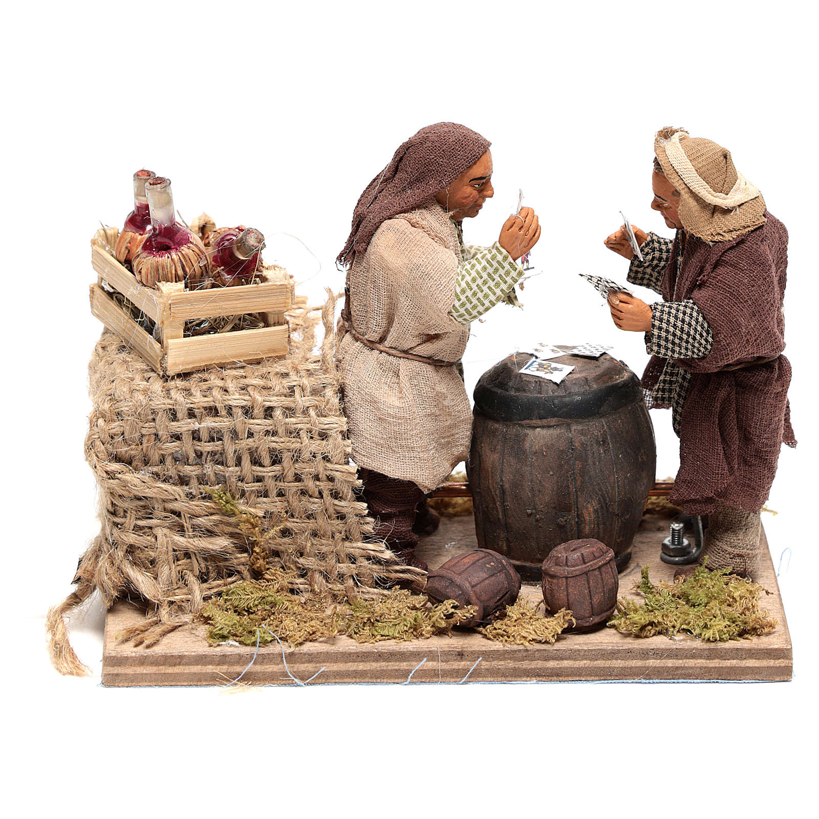 Moving card players 10x15x10 cm for Neapolitan Nativity Scene of 10 cm 4