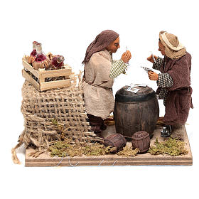 Moving card players 10x15x10 cm for Neapolitan Nativity Scene of 10 cm s1