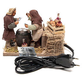 Moving card players 10x15x10 cm for Neapolitan Nativity Scene of 10 cm s4