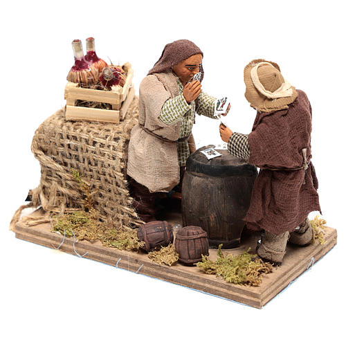 Moving card players 10x15x10 cm for Neapolitan Nativity Scene of 10 cm 2