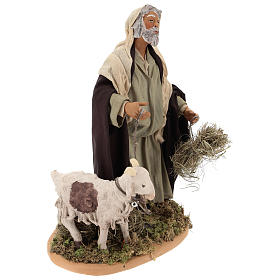 Shepherd with kid on a leash 24 cm s4