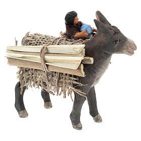 Burro con niño en la cesta belén napolitano 10 cm s4