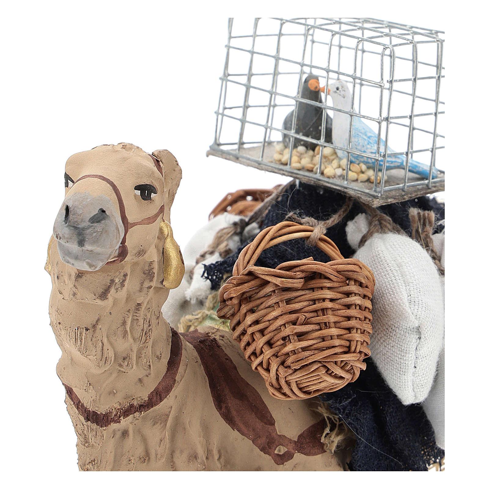 Camello bardado sentado para belén napolitano 10 cm 4