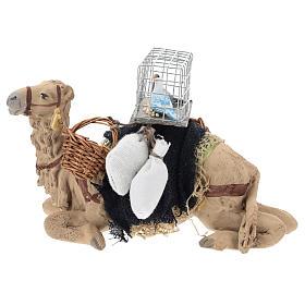 Camello bardado sentado para belén napolitano 10 cm s1