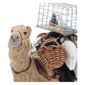 Camello bardado sentado para belén napolitano 10 cm s2