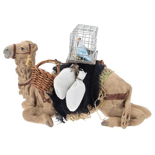 Camello bardado sentado para belén napolitano 10 cm 1
