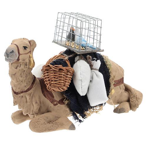 Camello bardado sentado para belén napolitano 10 cm 3