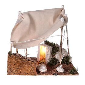 Tenda araba con luce per presepe napoletano di 8 cm s4