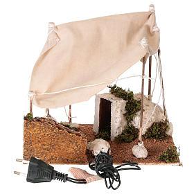 Tenda araba con luce per presepe napoletano di 8 cm s5