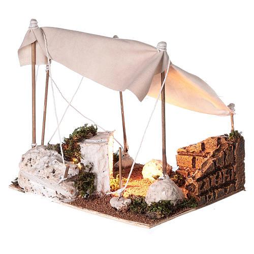 Tenda araba con luce per presepe napoletano di 8 cm 2